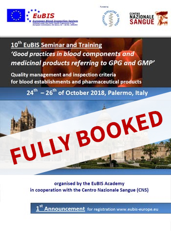 EuBis course Italy, Palermo, 24th - 26th of October 2018